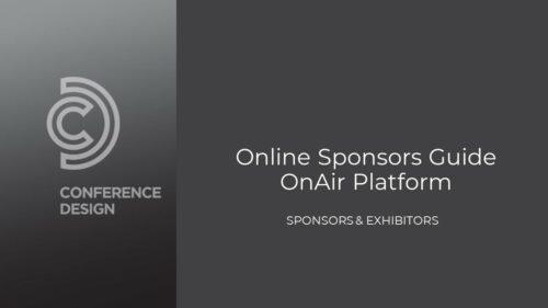 Online Sponsor & Exhibitor OnAir Guide